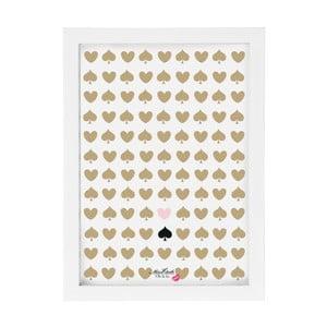 Obraz Miss Étoile Hearts & Spades, 25x33 cm