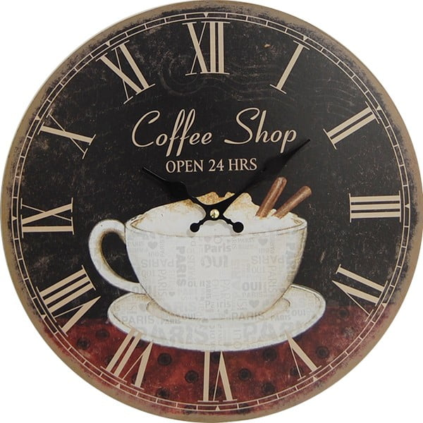 Zegar Coffee Shop, 34 cm