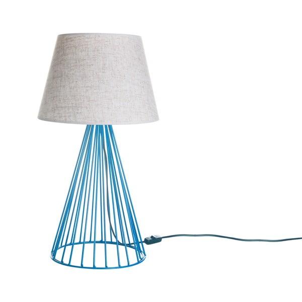 Lampa stołowa Wiry Blue/Beige