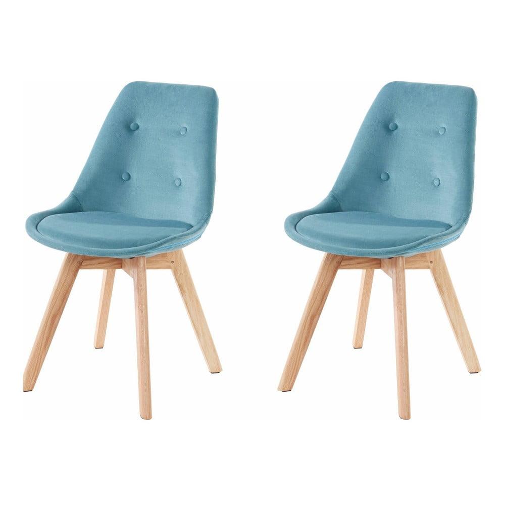 Zestaw 2 turkusowych krzeseł Støraa Ohio