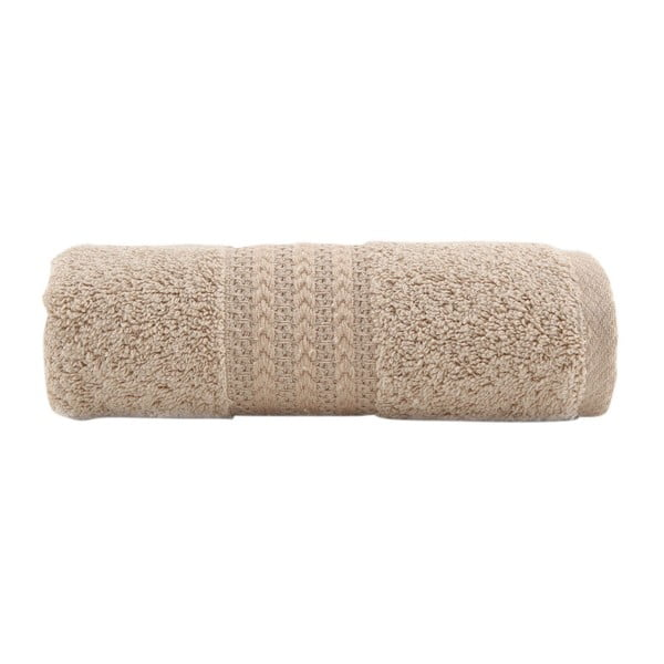 Brązowy ręcznik bawełniany Amy, 30x50 cm