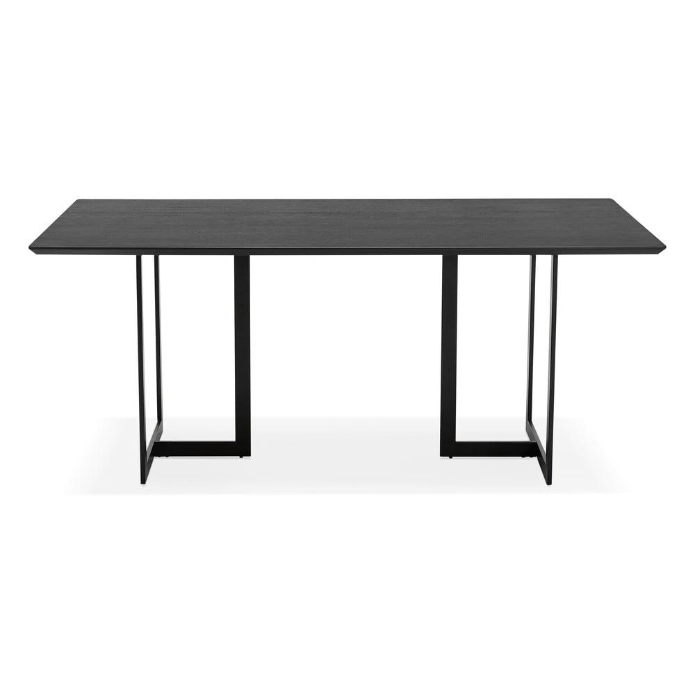 Czarny stół Kokoon Dorr, 180 x 90cm