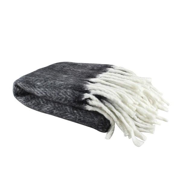 Wełniany pled Wool Black, 130x160 cm