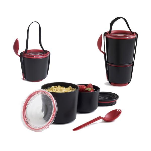 Czarno-czerwony pojemnik obiadowy Black + Blum Lunch Pot