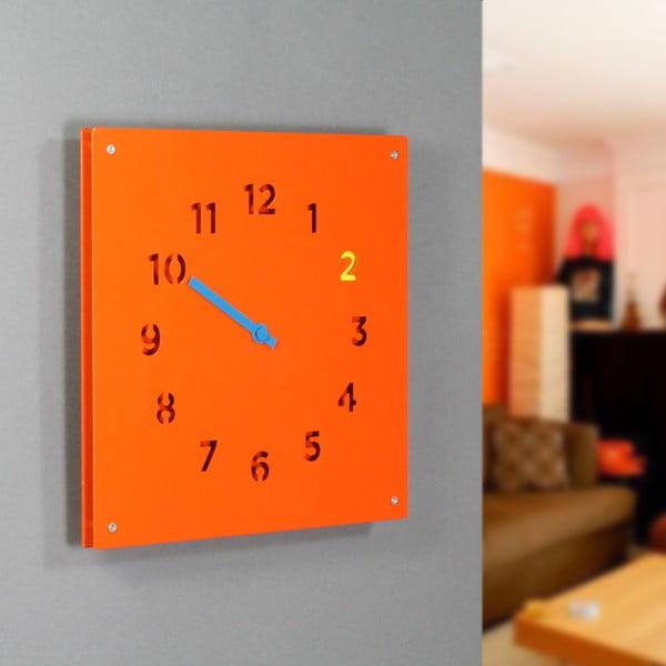 Zegar Wall Clock, pomarańczowy