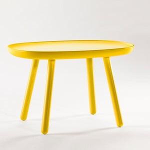 Żółty stolik z litego drewna EMKO Naïve Medium