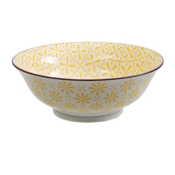 Porcelanowa miska Soba Yellow, 21x7,8 cm