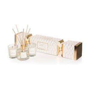 Podarunkowy zestaw świeczek i dyfuzora o zapachu cynamonu i pomarańczy Stoneglow Cadeau