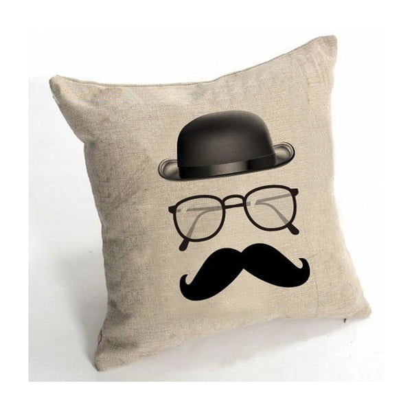 Poszewka na poduszkę Le Moustache, 45x45 cm