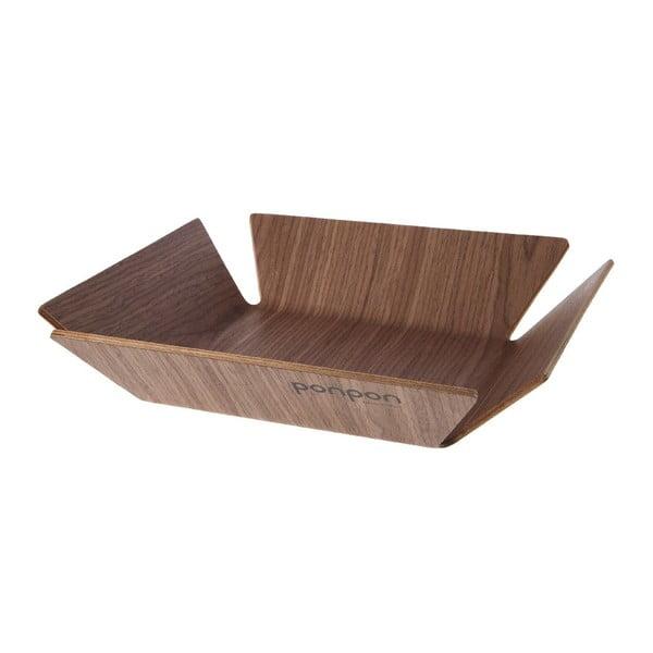 Taca drewniana Trayo 31x31 cm, naturalna