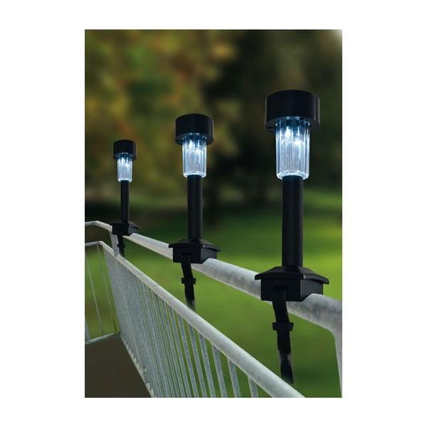 Zestaw 4 słonecznych lamp ogrodowych Laila