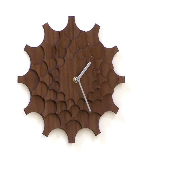 Zegar drewniany Cogwheel Walnut, 29 cm