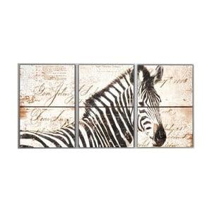 Trzyczęściowy obraz Zebra, 45x90 cm