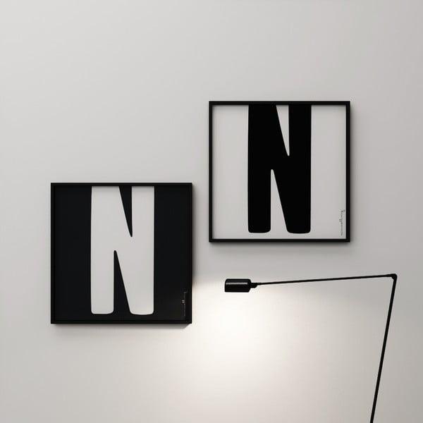Plakat Litera N, 50x50 cm