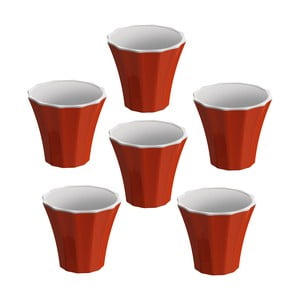 Komplet 6 filiżanek Colour, czerwony