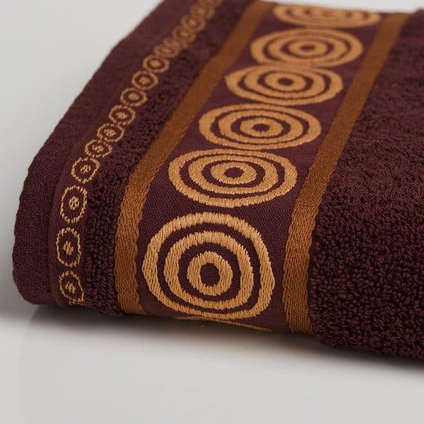Ręcznik Fraza Rondo Brown, 70x140 cm