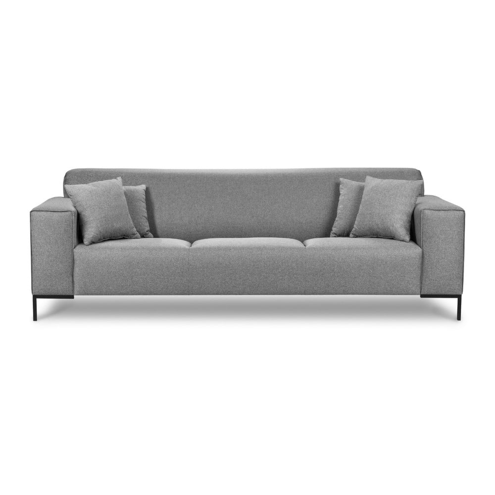 Szara sofa Cosmopolitan Design Seville, 264 cm