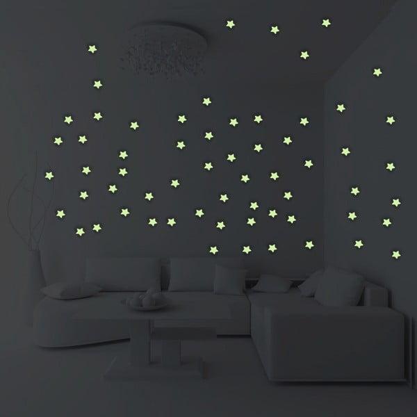 Komplet 100 świecących gwiazdek Ambiance Stars