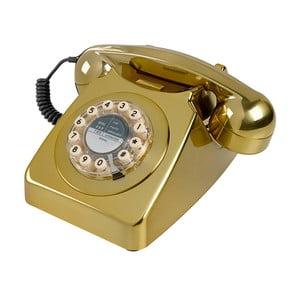 Telefon stacjonarny w stylu retro Serie 746 Brushed Brass