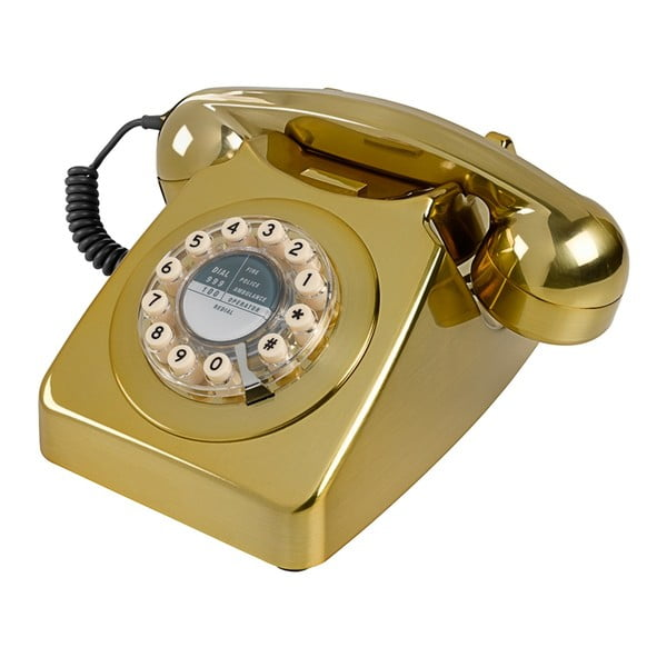 Telefon stacjonarny w stylu retro Serie 746 Brushed Brass