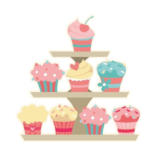 Naklejka ścienna Cupcakes Stand