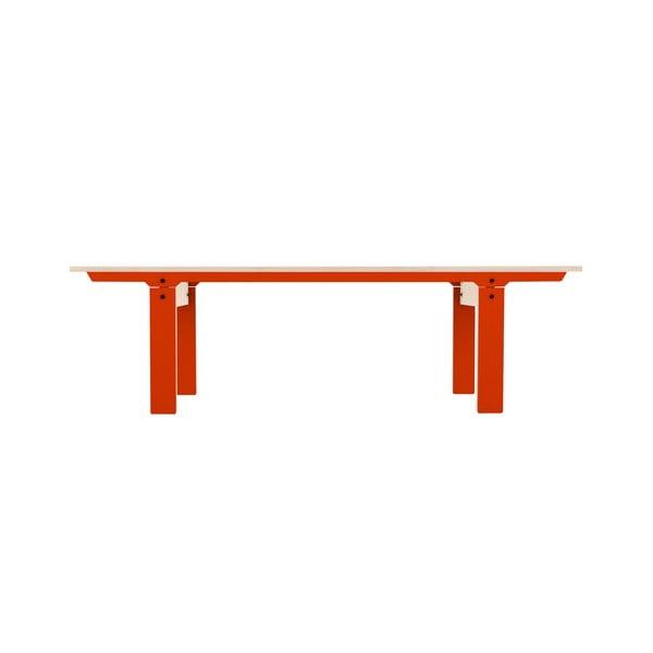 Pomarańczowa ławka rform Slim 04, dł. 165 cm