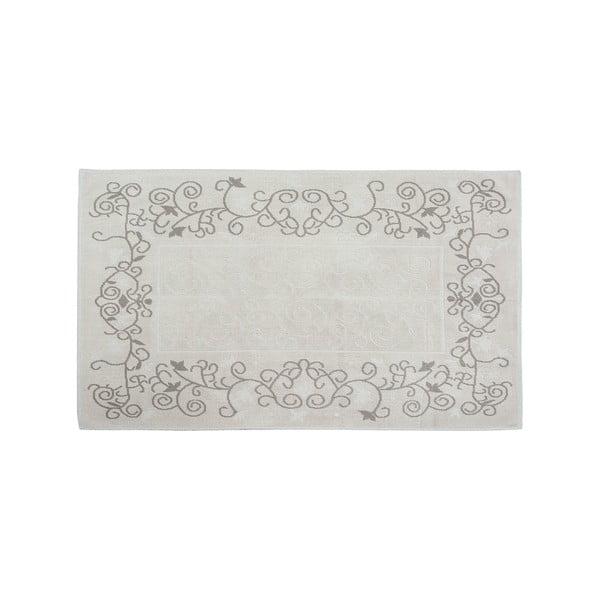 Dywan bawełniany Floral 80x300 cm, kremowy