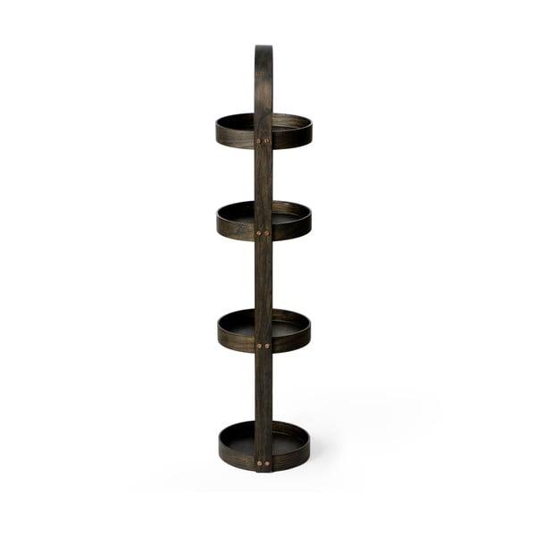 Stojak/szafka łazienkowa Wireworks Round Caddy Dark, 4 półki