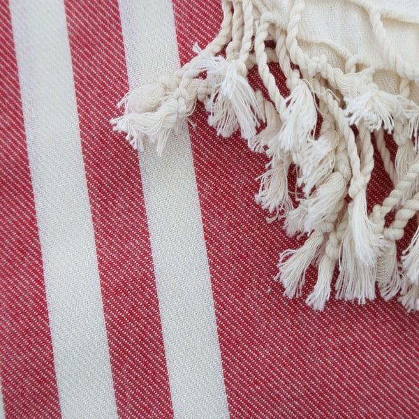 Ręcznik hammam Fouta Claret Red, 100x180 cm