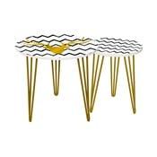 Zestaw 2 stolików Gold Deer, 35 cm + 49 cm