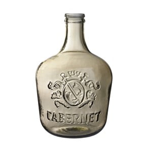 Wazon szklany Cabernet, 42 cm, brązowy