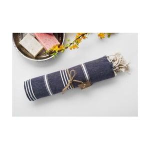 Ręcznik hammam Sabba Black, 100x180 cm