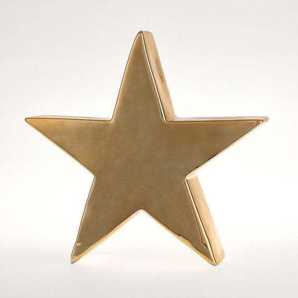 Świecznik Star Deco Gold, 24x23 cm