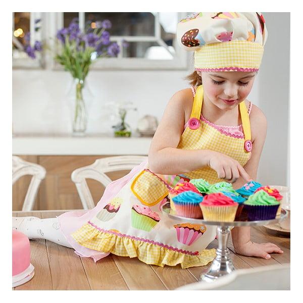 Dziecięcy fartuch kuchenny z czepkiem Vigar Yellow