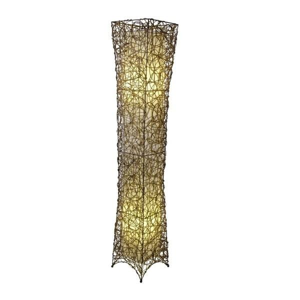 Beżowa lampa stojąca Naeve Korbstehleuchte