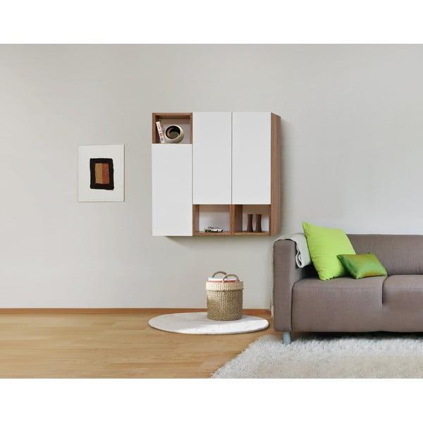 Półki ścienne Decoflex Case, białe/samba