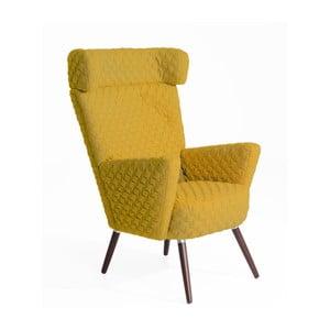 Żółty fotel Max Winzer Hajo