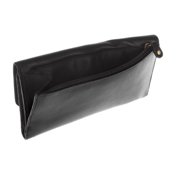 Damski portfel skórzany Imogen Black Leather Purse
