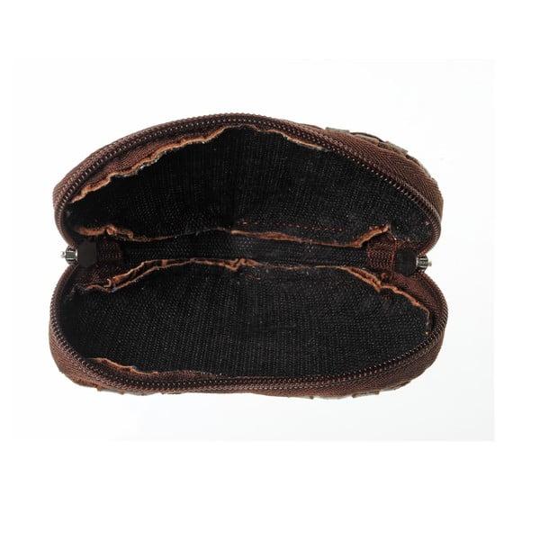 Zamszowa portmonetka Heart Dark Brown