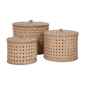 Zestaw 3 koszy z przykrywką Bamboo Nature