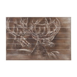 Dekoracja ścienna J-Line Deer Wood