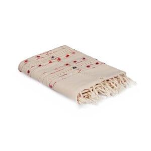 Kremowy obrus bawełniany Lale, 150x150 cm