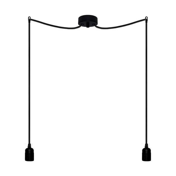 Dwa wiszące kable Uno, czarny/czarny