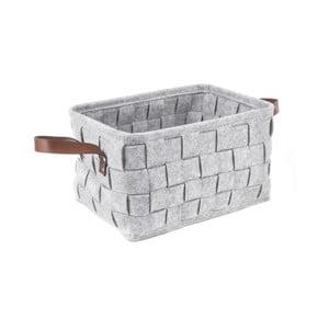 Jasnoszary koszyk PT LIVING Storage, dł. 38 cm