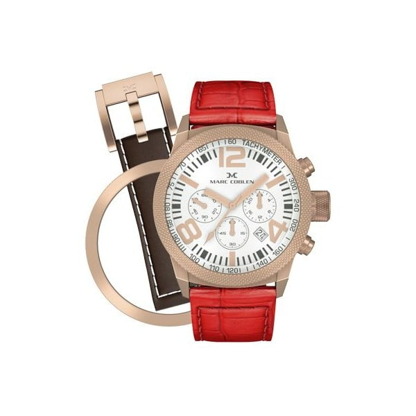 Zegarek damski Marc Coblen z dodatkowym paskiem i obręczą P31