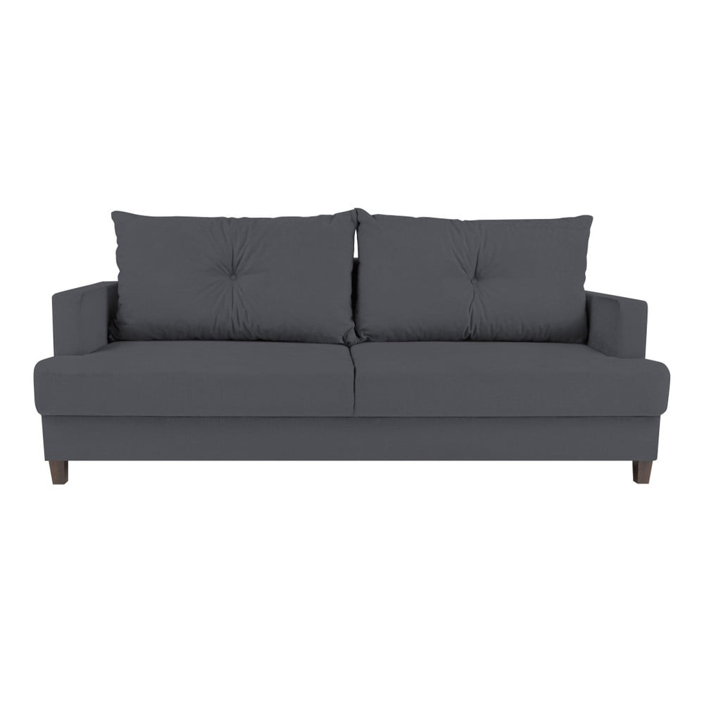 Ciemnoszara 3-osobowa sofa rozkładana Melart Lorenzo