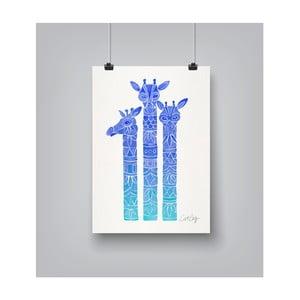 Plakat Americanflat Ombre Giraffes, 30x42 cm