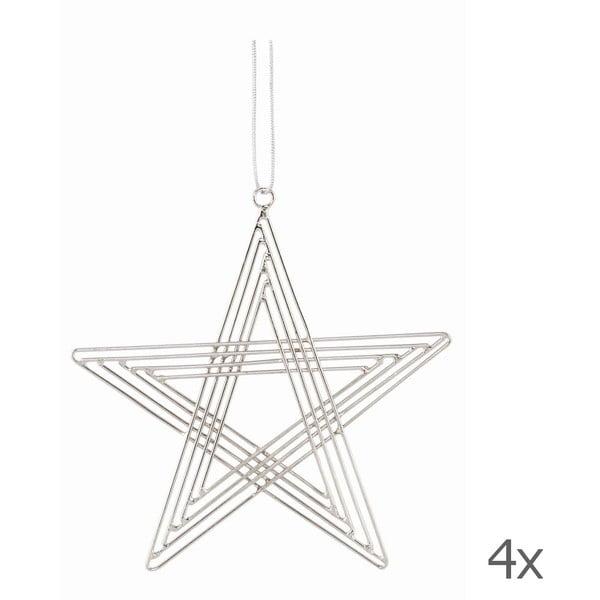 Zestaw 4 gwiazd wiszących