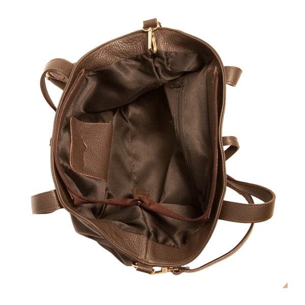 Ciemno-brązowa torebka skórzana Andrea Cardone Metteo