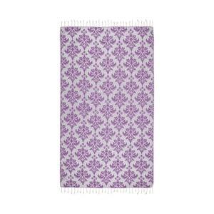 Fioletowy ręcznik hammam Kate Louise Serafina, 165x100cm
